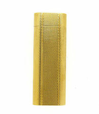 Cartier Paris Mini Gold Plated Barleycorn Textured Lighter