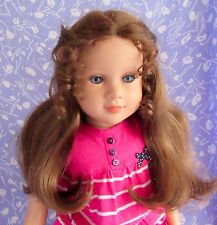 Global CARMEN Auburn Doll Wig Sz 13-14  Full Cap Long,  Wavy with Ringlets