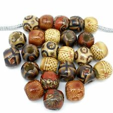 100pc 10mm Mixed Wooden Beads for Bracelet Jewelry Making Loose Spacer Craft HOT
