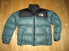 The North Face Teal Green Black Down Puffy Jacket Women's Medium  CH