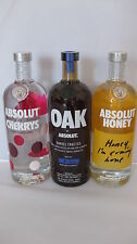Absolut Vodka Honey ,Cherrys und OAK  je. 1L 40% Vol. Wodka