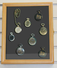 Display Case Shadow Box Cabinet  for Pocket Watches , Wall Mount  W-KC02-OA