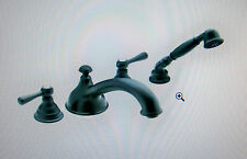 Moen T912WR Kingsley Low Arc Roman Tub Faucet w/Hand Shower Wrought Iron