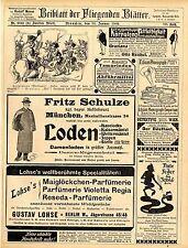 Fritz Schulze München Damen- Loden Aug. Zeiss & Co. Berlin Tinte u. Feder...1902