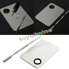 Stainless Steel Makeup Cosmetic Nail Eye Shadow Mixing Palette Spatula Tool