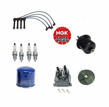 Acura Integra 1.8L 1834CC Tune Up Kit Oil Gas Filter Cap Rotor NGK Wires & Plugs