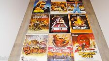 chuck norris lot collection 11 affiches cinema karate kung-fu