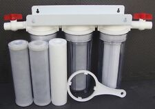 """10"""" Whole House 3 stage filtration water system + extra 3pc filters WH-3+3"""