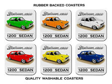 DATSUN  1200 SEDAN   KB110    SET OF  6   RUBBER DRINK  COASTERS