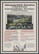 ORIG. la pubblicità azioni cartiera Regensburg gonfia Alling Sinzing laabertal 1916