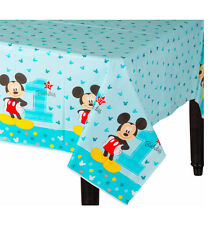 Baby Boy First Birthday Mickey Mouse Table Cover Party Decoration Supplies ~ 1st