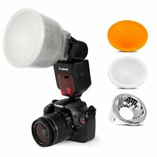 Universal Cloud white Lambency Flash Diffuser Cover Set for Flash Speedlite