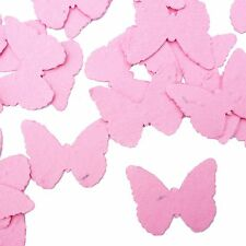 Hot Pink Butterfly Shape Plantable Wildflower Seed Recycled Paper Confetti 100