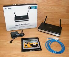 D-Link (DIR-615) N300 108 Mbps 4-Port 10/100 Wireless N Router Bundle **READ**
