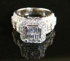 Vintage 2.5 CT Diamond 14K White Gold Estate Ring ZEI
