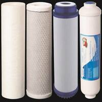 Reverse Osmosis Replacement Water Filters 4 pc RO Cartridges Sediment, GAC, CTO