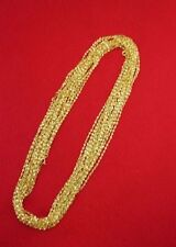 WHOLESALE LOT OF 15 14kt GOLD PLATED 24 INCH 2mm TWISTED NUGGET CHAINS
