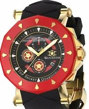 Watchstar Quantico Top Secret Marine Corps Blackhawk Helicopter Burgandy Watch
