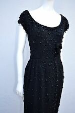Vintage 50's SOPHIE Gimbel of Saks Fifth Avenue beaded bombshell dress sM