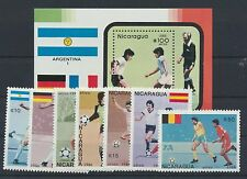 Nicaragua 2724/30 Block 171 postfrisch / Fußball ...............................