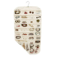 80 Pockets 2 Side Hanging Jewelry Organizer Closet Clear Storage Bag Fantastic