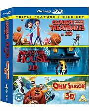 Cloudy With A Of Meatballs, Monster House & Open Season [Blu-ray 3D 3-Disc Set]
