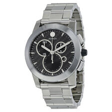 Movado Vizio Black Carbon Fiber Stainless Steel Mens Watch 0606551