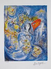MARC CHAGALL Facsimile Signed Limited Edition Art Giclee BELLA