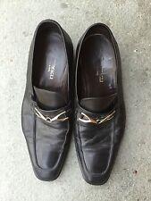 Bruno Magli Mens Horse Bit Loafer Black Leather Size 10M