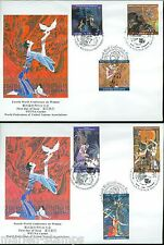 UNITED NATIONS 1995 4th WORLD CONFERENCE ON WOMEN SET OF TWO  FIRST DAY COVERS