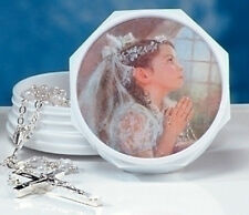 Girl Box w Rosary Beads KATHRYN FINCHER (2004) Roman Giftware NIB