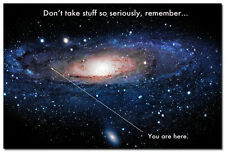 "You Are Here - Motivational Silk Fabric Poster 24x36"" Universe Galaxy Picture"
