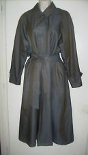 LONDON FOG Khaki Green Classic Trench Coat, Size 12 - Pre-owned
