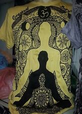Yoga Men T Shirt short sleeve cotton Buddha Chakra Shiva tattoo India Om M Sure