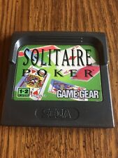 Solitaire Poker (Sega Game Gear, 1991) Cartridge Only!
