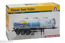 "Italeri 3886 1/24 Model Truck Kit ""Granarolo"" 40000 Litre Classic Tank Trailer"