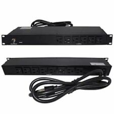 "19"" inch 1U Rack Mount 14-Outlet 15Amp PDU Power Bar Strip AC 6ft Cable"