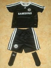 Chelsea Baby Soccer Kit Adidas Football Shirt Shorts Socks black NEW