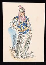 1946 Types De L'Afrique Du Nord No15 Well To Do Algiers Lady in Costume Postcard
