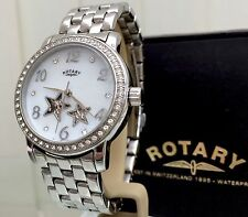New Rotary Watch Ladies Automatic Skeleton Stars Swarovski Crystals RRP £189