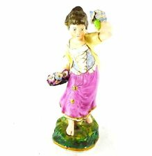 C1840 ENGLISH STAFFORDSHIRE PORCELAIN FIGURE OF A LADY SPRING FOUR SEASONS