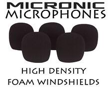 5x 9mm-12mm DIAMETER LAVALIER MICROPHONE FOAM WINDSHIELD WINDSCREEN DUST COVER