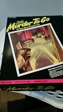 Vintage Murder To Go Game Ideal 1985 David Landaus Mystery Instructions Complete