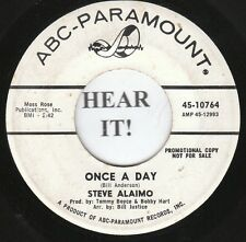 Steve Alaimo TEEN 45 (ABC-Paramount 10764 PROMO) Once a Day/Bright Lights Big