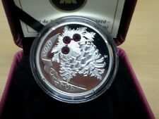 2010 Canada  Ruby Holiday Pine Cones Silver Coin
