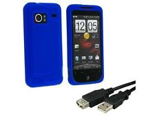 HTC Droid Incredible Dark Blue Silicone Skin Case + USB Extension Cable 6 FT com