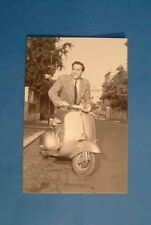 LAMBRETTA VESPA POST CARD VITTORIO GASMANN ITALIAN CARD 15 YEARS OLD