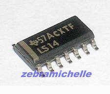5pcs SMD IC 74LS14 LS14 TI Provide Tracking Number