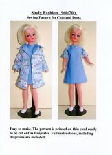 Sindy Sewing Pattern for 1960/70's Coat and Dress