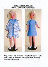 Sindy patrón de costura para 1960/70's Abrigo y vestido
